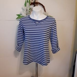 Stripped Blue and White Top